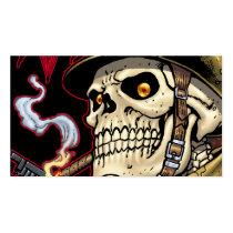 skull,, skulls,, airborne,, marine,, marines,, corps,, parachute,, skeleton,, skeletons,, al rio, Business Card with custom graphic design