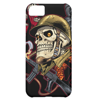 Skull with Helmet, Airplanes and Bombs Cover For iPhone 5C