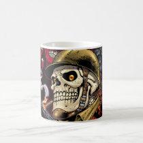 skull,, skulls,, airborne,, marine,, marines,, corps,, parachute,, skeleton,, skeletons,, al rio, Mug with custom graphic design