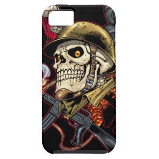 Skull with Helmet, Airplanes and Bombs iPhone SE/5/5s Case