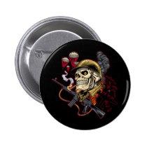 skull, skulls, airborne, marine, marines, corps, parachute, skeleton, skeletons, al rio, Button with custom graphic design