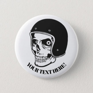 Skull with helmet button