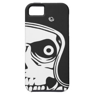 Skull with helmet iPhone 5 cases