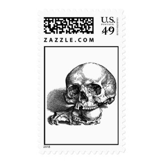 Skull with loose jawbones, Halloween idea Postage Stamps