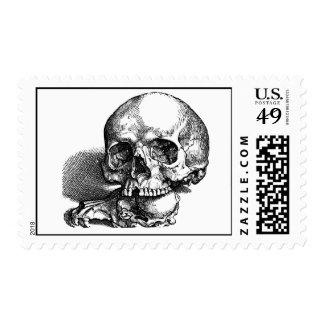 Skull with loose jawbones, Halloween idea Stamp
