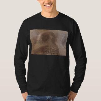 skull with moth men long-sleeve t-shirt