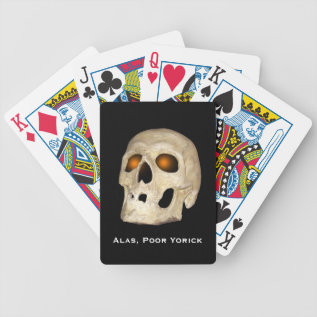 Skull With Orange Eyes Halloween Playing Cards at Zazzle