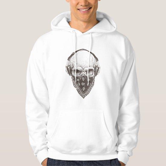 Skull with Paisley Bandana - Halloween Hoodie