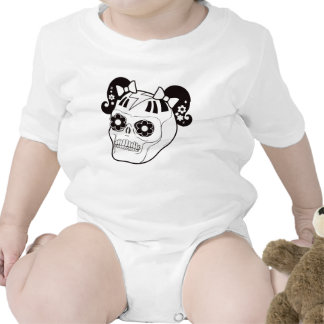 Skull with Pigtails Baby Bodysuit