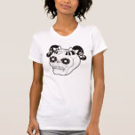 Skull with Pigtails T-shirt