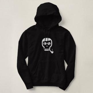 Skull with Pipe Hoodie. Hoodie