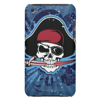 Skull with pirate's hat, eyepatch and sword Case-Mate iPod touch case