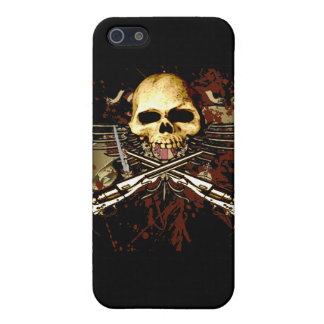 Skull with pistols cover for iPhone SE/5/5s