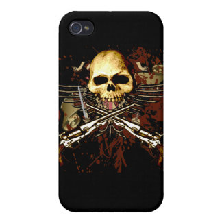 Skull with pistols cases for iPhone 4