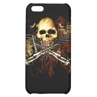 Skull with pistols cover for iPhone 5C