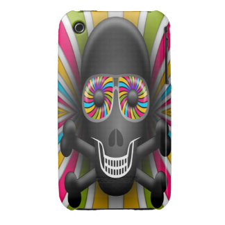 Skull with psychedelic shades. iPhone 3 Case-Mate cases