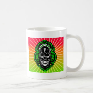 Skull With Radient Background Mugs