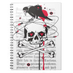 Skull with Raven Note Book