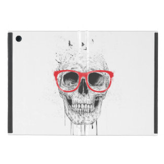 Skull with red glasses case for iPad mini