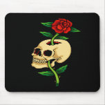 Skull with Rose Mouse Pads