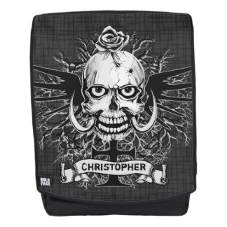 Skull With Rose Tattoo Personalize Backpack