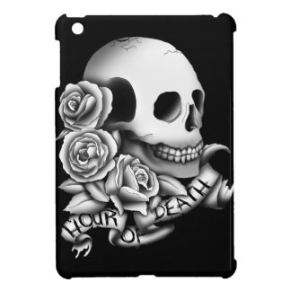 Skull with roses and banner case for the iPad mini