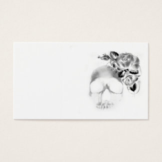 Skull with roses business card