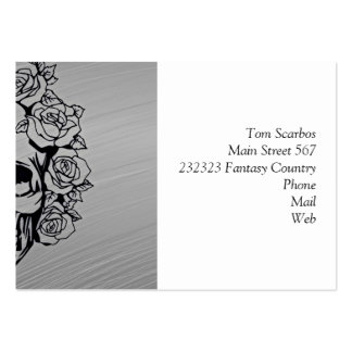 skull with roses pack of chubby business cards