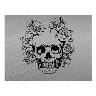 Skull with Roses Postcard