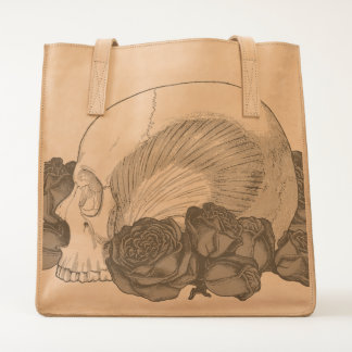 Skull With Roses Tote
