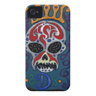 Skull with rown and Swords iPhone 4 Cover