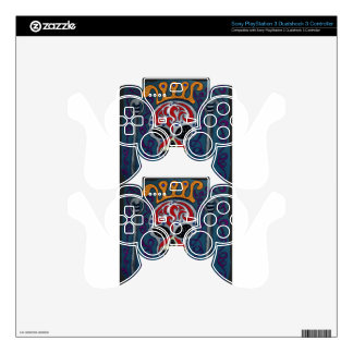 Skull with rown and Swords PS3 Controller Skins
