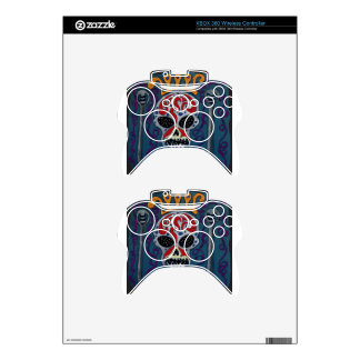 Skull with rown and Swords Xbox 360 Controller Skin