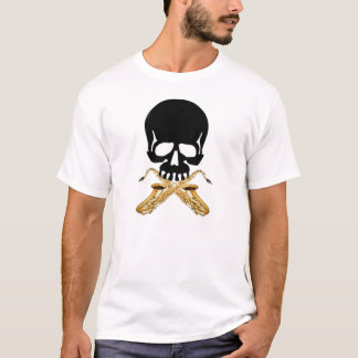 Skull with Saxophones T-Shirt