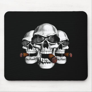 Skull with Shades Mouse Pad