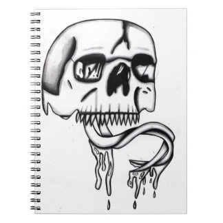 skull with snake tounge journal