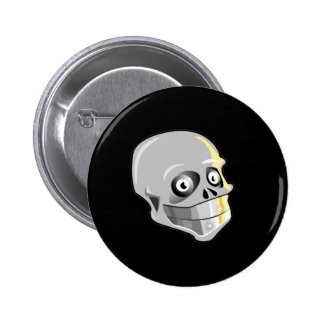 Skull With Sparkling Teeth Pinback Button