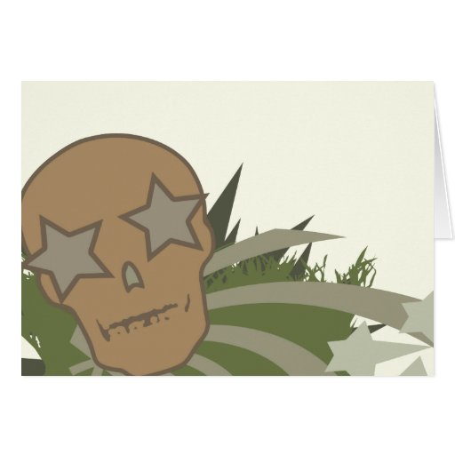 Skull with Star Eyes Card