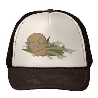Skull with Star Eyes Mesh Hats
