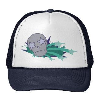 Skull with Star Eyes Mesh Hat