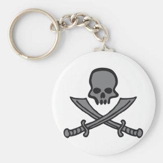 skull with swords llavero redondo tipo pin