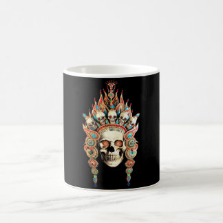 Skull with Tibetan Headdress Coffee Mug