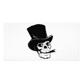 Skull with Top Hat and Cigar Card