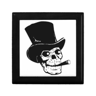 Skull with Top Hat and Cigar Gift Box