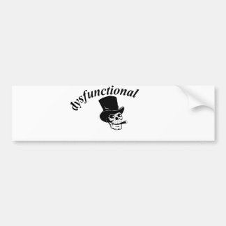 Skull with top hat bumper sticker