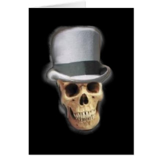 Skull with Top Hat Greeting Card