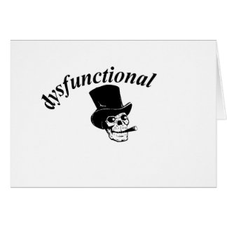 Skull with top hat card