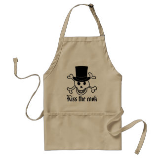 Skull with top hat | Cool BBQ apron for men