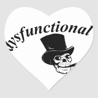 Skull with top hat heart sticker