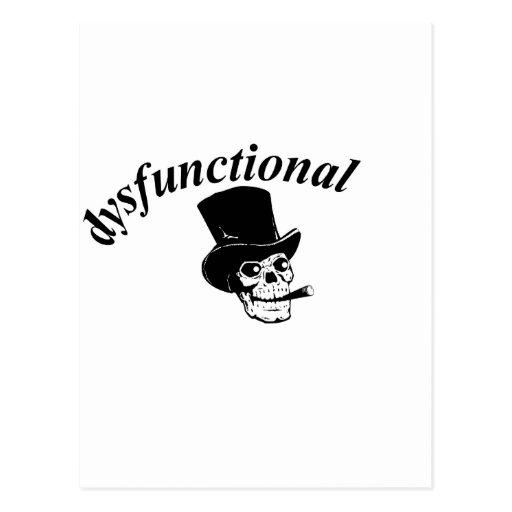 Skull with top hat post card